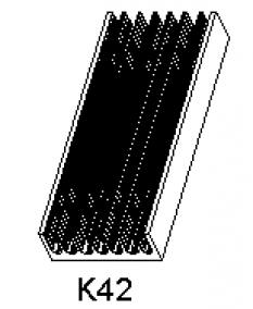 Hliníkové chladiče K 42