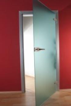 Skleněné dveře satinato (matované)