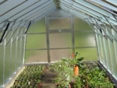 Hliníkový skleník pro zahrádkáře