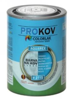 vodouředitelná matná jednovrstvá barva na ocel a lehké kovy AQUAREX V 2115
