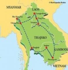 Zlatý okruh - Thajsko - Laos - Kambodža