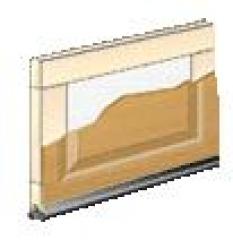 Sekčné karážové brány - Kompozit dreva - Elite