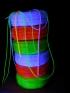 Dekorační materiály svítící pod UV lampou