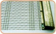 Harfové síto s vertikálně zvlněnými podélnými dráty
