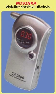 Digitálne alkoholové detektory