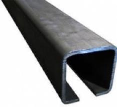 C profil 80x80x5 mm, čierny