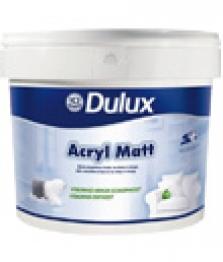 Biela otěruodolná akrylátová farba na steny a stropy v interiéri - Dulux acryl matt