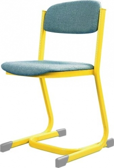 Židle učitelská žlutá