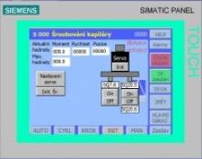PLC dotykové panely