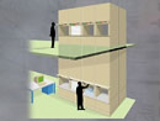 Skladové riešenia Stow, regály pre malé diely - Automatický skladovací a vyhľadávací systém