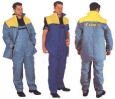 Pracovný odev - bunda Eso s odopínacími rukávmi, oteplené nohavice s trakmi