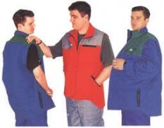 Pracovný odev - vesta štepovaná s odopínacími rukávmi