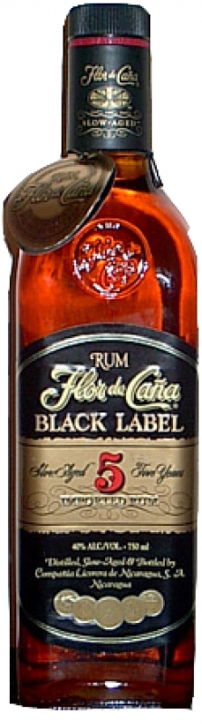 Rum Flor de Cana Black 5 y.o. 40% 0,7l