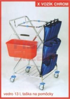 Upratovací vozík X vozík chrom 2