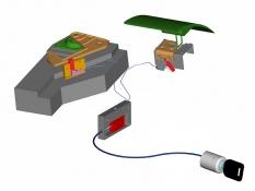 Zámek řadící páky a kapoty Construct 3 System