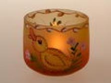 stínidlo malované pro svíčku, dóza - housátko