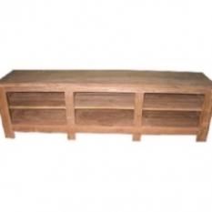 TV stolek policový 210cm dřevěný z masivu