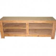 TV stolek policový 120cm dřevěný z masivu