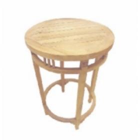 Dřevěný kulatý barový stolek z masivu manga 60x105cm
