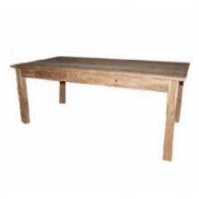 Velký jídelní dřevěný stůl se šuplíky z masivu 200x90