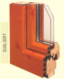 Systém oken dřevo-hliník