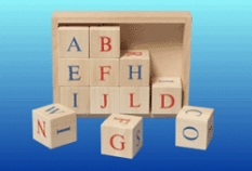 Drevené hračky - Kocky abeceda
