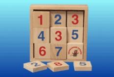 Drevené hračky - Pexeso čísla