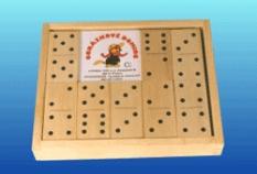 Drevené hračky - Domino bodky čierne