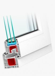 Plastové okna - Systém Iglo5 Classic profil: Gl System