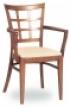 Dřevěná jídelní židle s područkami 3201