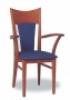 Dřevěná jídelní židle s područkami 3229