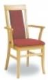 Dřevěná jídelní židle s područkami 3444