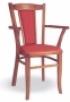 Dřevěná jídelní židle s područkami 3850