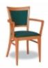 Dřevěná jídelní židle s područkami 3904