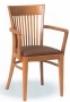 Dřevěná jídelní židle s područkami 3915