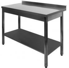 Profesionálny kuchynský stôl s vystuženou policou - DSL