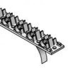 Podlahové vykurovanie, podlahové konštrukcie - fixačná lišta 14-20