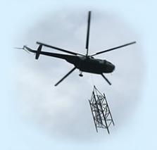 Vrtulník - létající jeřáb