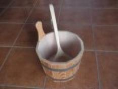 Saunové doplnky - Vedro drevené
