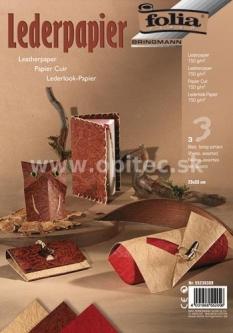 Papier s koženým efektom, hadia koža, 3 ks, 23 x 33 cm