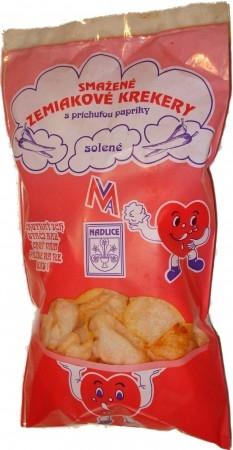 Smažené zemiakové krekery s príchuťou papriky - solené