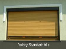 Predokenné rolety s viditeľným boxom Standart Al