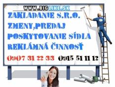 Sídlo firmy-Virtual Office
