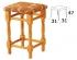 Jídelní a kuchyňské židle dřevěné