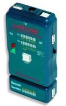 Gembird tester káblov RJ45/RJ11 (UTP/STP) & USB AA/AB, LED