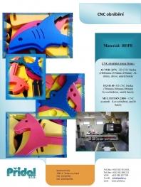 3. Frézování na CNC frézce (dřevo, plast, lehké kovy)