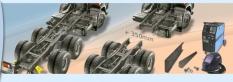 Úpravy rámů nákladních vozidel
