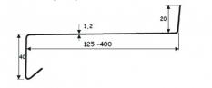 Venkovní parapety - Hliníkové ohýbané