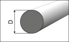 Hliníkové tyče kruhové