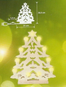 Svietnik tvaru Vianočného stromčeka